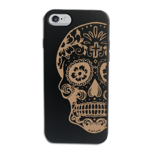 Funda iPhone Calaca negra frontal