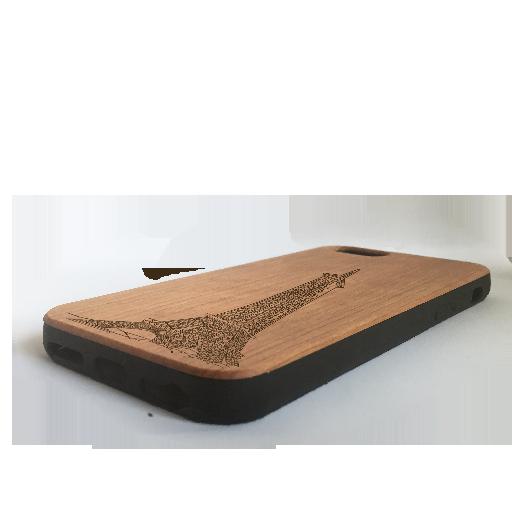 Funda iPhone paris, case madera