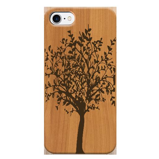 Funda iPhone árbol, case madera