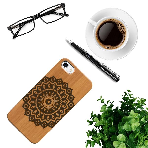 Funda iPhone Flor mandala composición